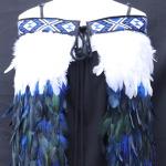 Adult Kākahu Huruhuru - Royal Blue and White