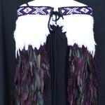 Adult Kākahu Huruhuru - Dark Purple and White