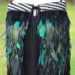 Adults Kākahu Huruhuru - Black with Royal Blue and Turquoise