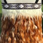 Baby Kākahu Huruhuru - Gold with Cream trim