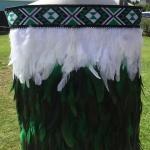 Childs Kākahu Huruhuru - Emerald & White