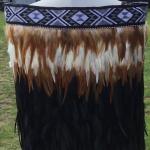 Childs Kākahu Huruhuru - Black, Rust and Cream