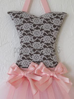 Chocolate Laced Mini Tutu Bow Holder