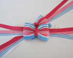 Country Tea Party Stripe Pigtail Streamer