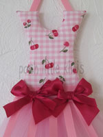 Crimson Cherries Mini Tutu Bow Holder