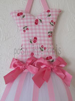 Hot Pink Cherries Mini Tutu Bow Holder