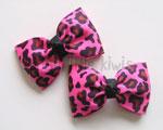 Leopard Mini Tuxedo Bow (More Colour Options)
