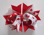 White with Red Hearts Stacked Topper